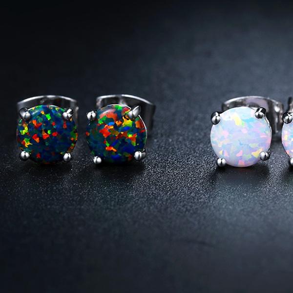 14bb27021 Lab-Created Opal Stud Earrings Set By Peermont (3-Piece Set)