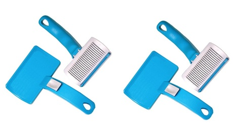 Dog Grooming Brush Self Cleaning Slicker Brush 3 In 1 Pet Shed Away Brush 65a1ea80-c154-4c8a-a2aa-bedb5b484339