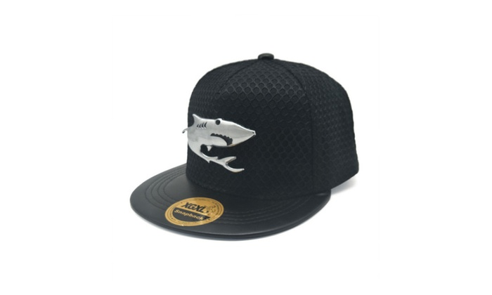 Fish metal standard shade flat eaves hip hop hat