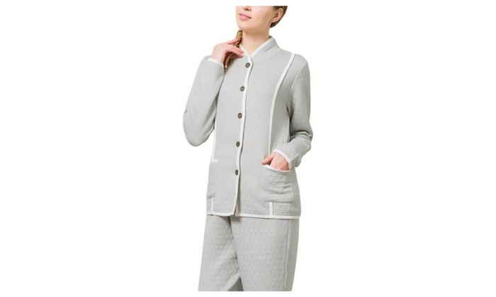 Women's Casual Straight Casual Pull On Style Pajamas Set