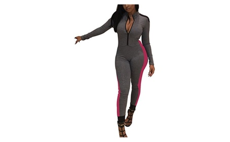 Womens Sexy Sport Fitness Workout Yoga One Piece Jumpsuit - Black, Gra c2cf1512-1db9-455d-a9ad-98eaa505326b