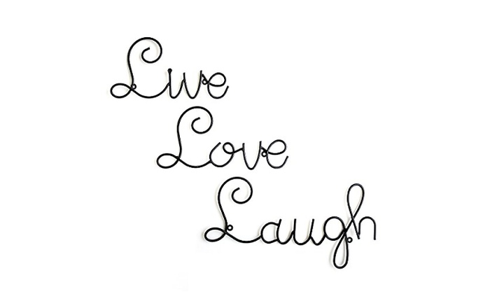Up To 41 Off On Wall Mounted Live Love Laugh Groupon Goods
