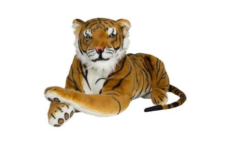 Tiger Plush Animal Large Realistic Big Cat Orange Bengal Soft Stuffed 94709fba-cd59-4769-a311-0b06ed863523