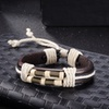 Genuine Leather Twine Rope Closure Bracelet