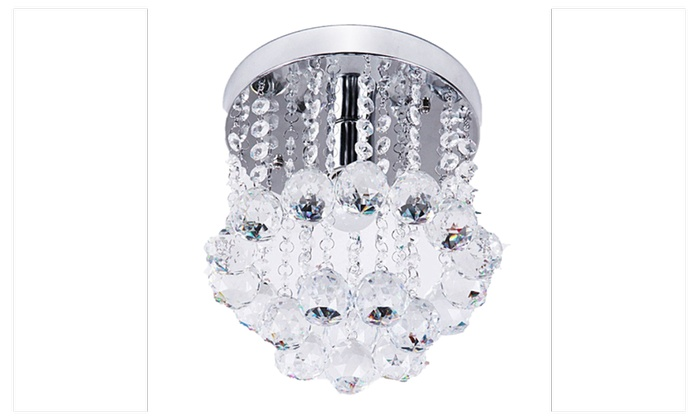 ZEEFO Crystal Chandeliers Light Mini Style Modern Décor Flush Mount - Chandelier crystals michaels