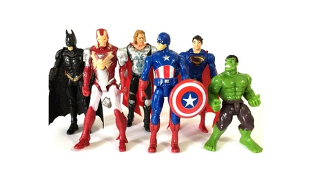 Marvel Action Figure Avengers Model Superman Batman Toy Kids Gift 6Pcs 823092df-2fef-4f34-8fe5-ed1bb7cc1f31