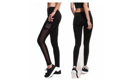 Women's Mesh Workout Sports Pants Gym Yoga Leggings with Hidden Pocket 16fbb956-0511-4ae1-95a6-66ea67e01438