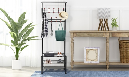 NewHome Iron Coat and Shoes Rack