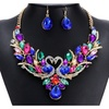 Costume Maxi Statement Colorful Swan Women's Necklace