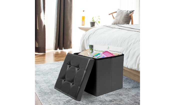 Groovy Up To 54 Off On Folding Faux Leather Storage Groupon Gmtry Best Dining Table And Chair Ideas Images Gmtryco