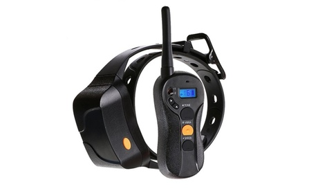 Waterproof Shock, Vibration, & Tone Long-Range Dog Training Collar with LCD Remote adad5343-73ea-4c9a-8f1a-258730d056b7
