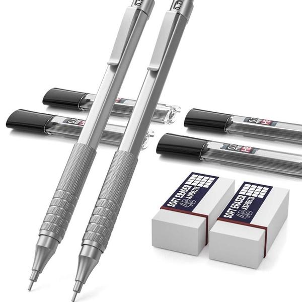 2pcs Mechanical pen shape retractable eraser stationery school supplies SC