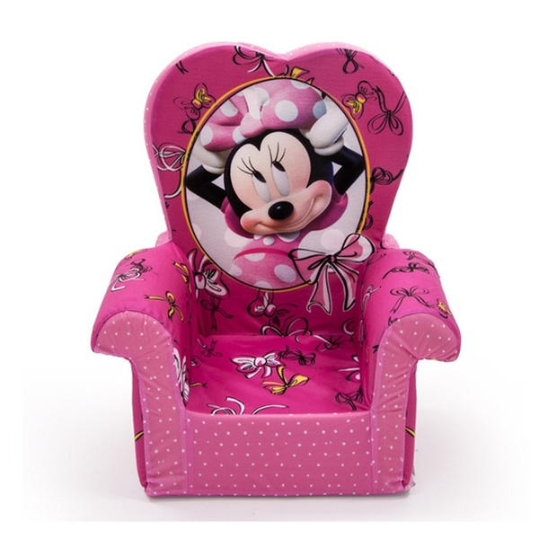 Minnie Mouse Stoel.Children S Foam High Back Chair Disney S Minnie Mouse By Spin Master