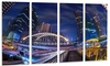 Modern Bridge Cityscape - Photography Metal Wall Art