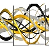 HelixExpression - Large Abstract Canvas Art Print - 60x32 - 5 Panels