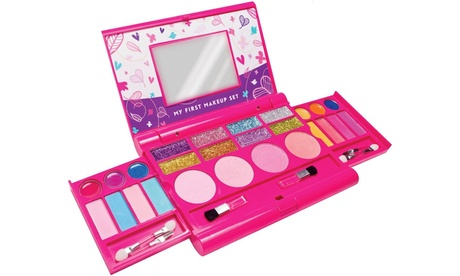 Girls Makeup Kit, Fold Out Makeup Palette with Mirror