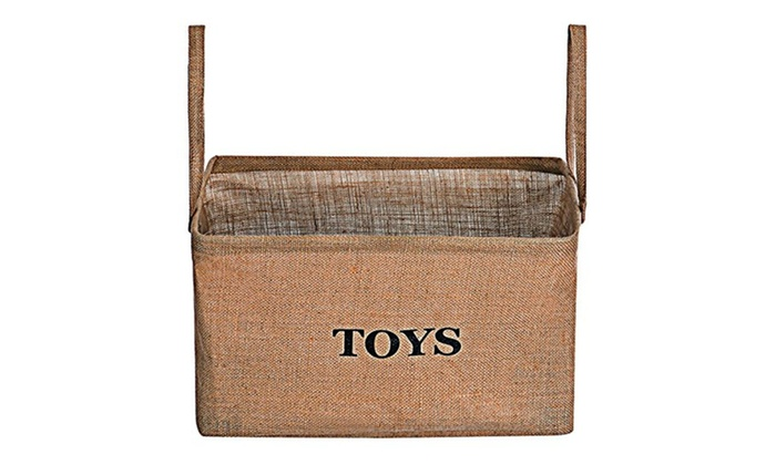 Toy Storage Bin, Flax Kids Collapsible Storage Basket Organizer ...