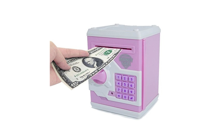 TOPBRY Cartoon Electronic Password Piggy Bank Cash Coin Can For Kids