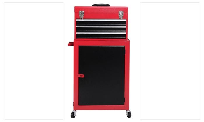 2pc Mini Tool Chest & Cabinet Storage Box