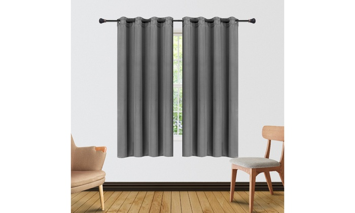 Blackout Curtains Not Including Curtain Rod Groupon