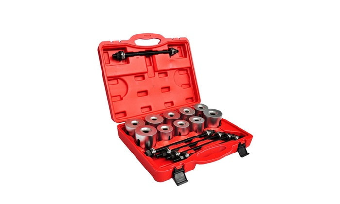 SCITOO 27PCS Automotive Universal Tools Press and Pull Sleeve Kit Bush Bearing Removal Insertion Tool Set