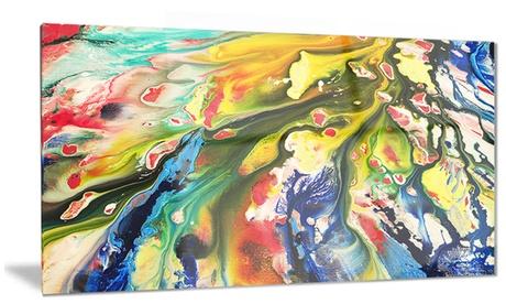 Mixed Oil Color Texture Abstract Metal Wall Art 28x12 e9e133ef-0efb-4247-a351-dee196d03e1d