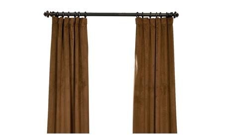 """Signature Sable Blackout Velvet Curtain 50"""" Wide Each Panel a5954ed4-2fb6-4a4e-a21b-4d5c7de45f41"""