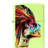 Zippo Colorful Face Pocket Lighter, Neon Yellow 29083