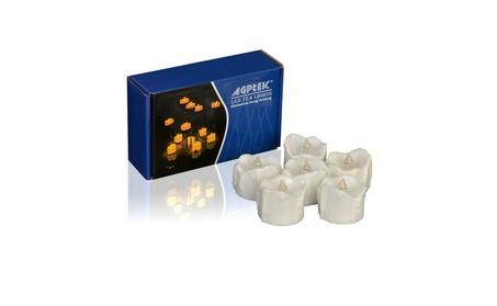 AGPtek 6 PCS LED Tealight Candles Battery Operated - Warm White a2ddff73-98b9-4568-b49c-4565a2df54c9