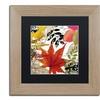 Color Bakery 'Equinox II' Matted Birch Framed Art