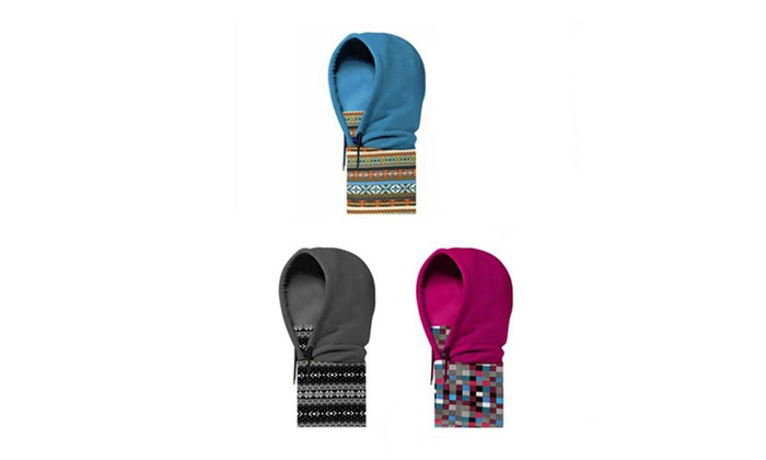 Versatile Polyester Fleece Beanies Skiing Hats Caps Face Mask Scarf