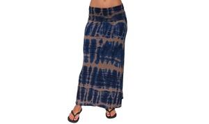 Women's Maxi Skirt Rayon Span Fold over Waist Band