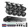 SANNCE 8-Channel HD 1080N  DVR and 720P camera Home Security System