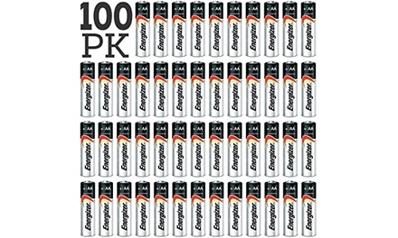 100-Pack: Energizer Max AA and AAA Alkaline Batteries