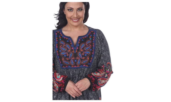 Plus Size Apolline Embroidered Sweater Dress Groupon
