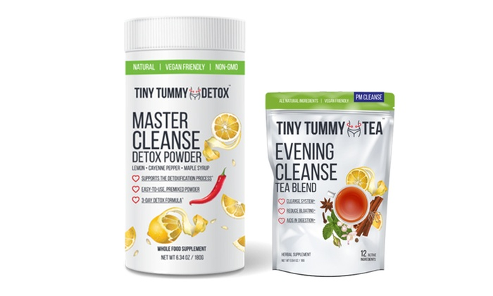 Up To 61 Off On Tiny Tummy Detox Powder And Tea Groupon Goods