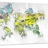 Natural World Map Metal Wall Art 28x12