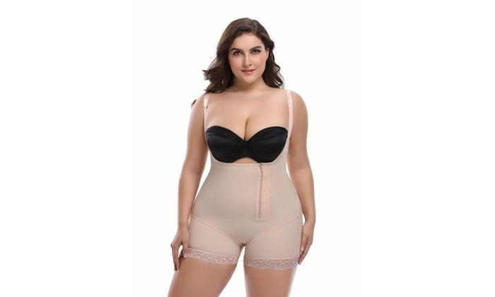 0d9a86b19e7a1 LAGGRA Women Full Body Plus Size Shapewear Waist Trainer Body Shaper  Bodysuit