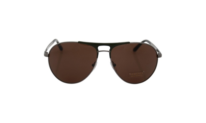 Gunmetal/Matte Green by Versace for Men - 60-15-140 mm Sunglasses