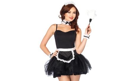 Leg Avenue French Maid Kit Sexy Maid Apron and Headpiece Halloween Costume Set