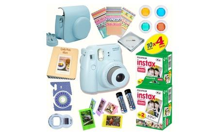 Fujifilm INSTAX Mini 8 Camera Blue + 40 Instant Film + 15 PCS Bundle 35109303-7f63-44f1-a9a9-6345a4fca912
