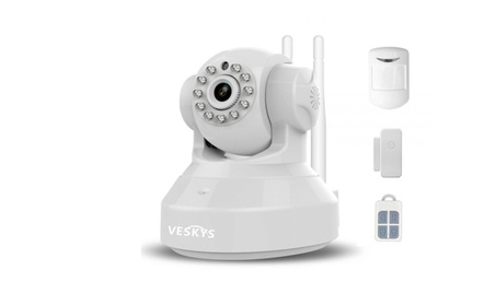 Wireless Linkage Alarm Security System IP Camera Set (US Standard) 83fec3b5-36cb-46f2-8a0b-7a7f15cae3d3