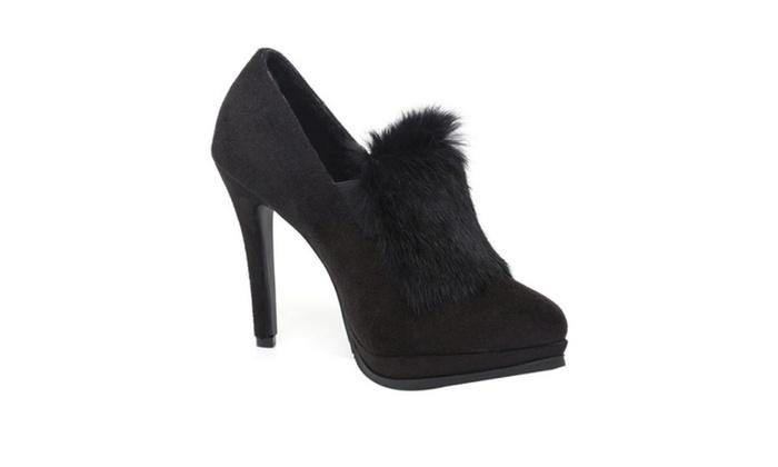 Women's Faux Fur Casual High Heels