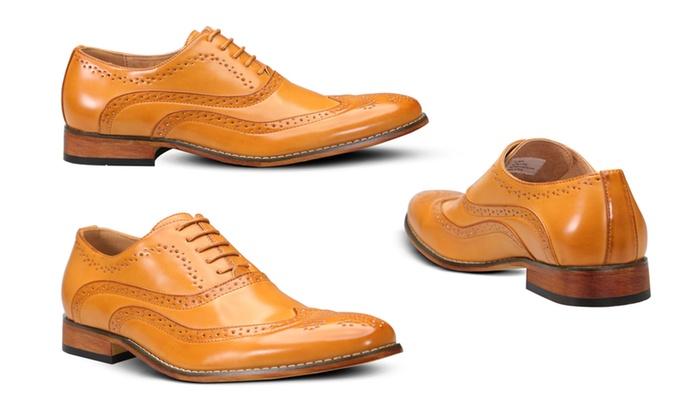3a78c657c28 UV Signature Men's Oxford Wingtip Brogue Dress Shoes | Groupon