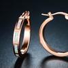 Rose Gold & Fire Opal Hoop Earrings By Peermont