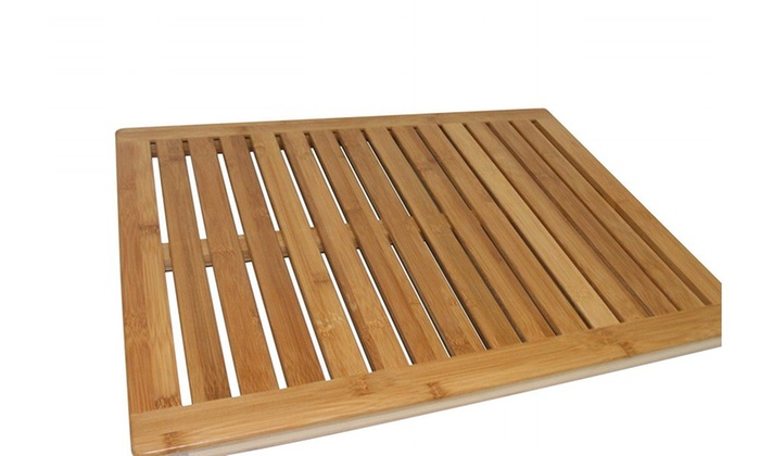 Bath mat made of 100 percent bamboo livingsocial for Bathroom 94 percent
