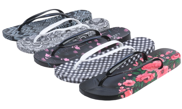 3119f8683f6 Roxoni Women s Summer Slide-on Thong Strap Flip-Flop Sandals