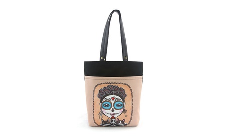 Sleepyville Critters Day of the Dead Sugar Skull Girl Tote Purse (Goods Women's Fashion Accessories Handbags Totes) photo