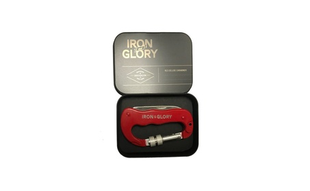Iron and Glory Deluxe Carabiner, Red - Screw Locking 4-in-1 Clip 9e24a78c-6de5-49a0-9c52-2c204b93f702