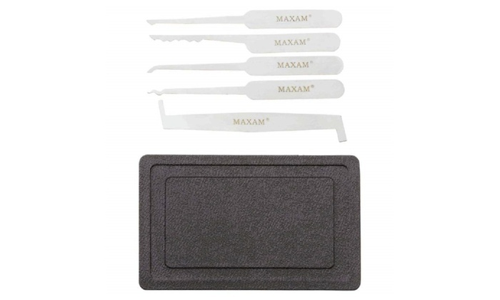 Maxam 5pc Lock Pick Set with Case